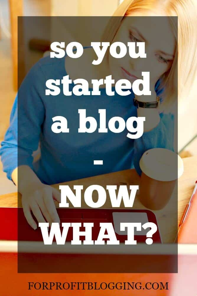 I was SO LOST after I got my blog going - there were just WAY too many things to do. This helped so much.