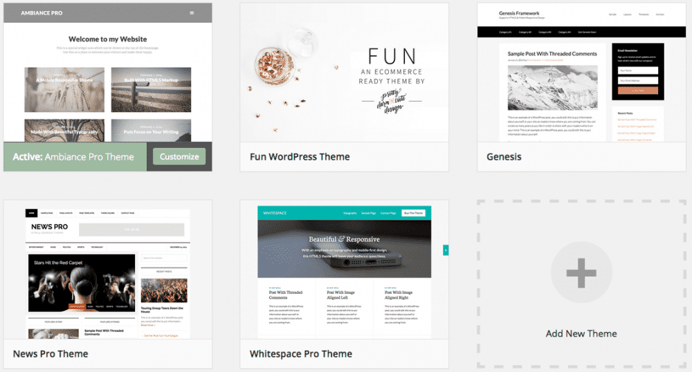 See, these fancy themes are more gorgeous-er