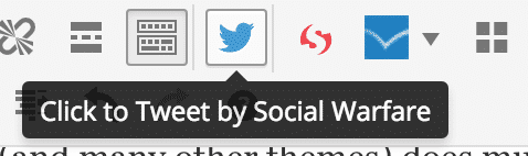 Social Warfare Plugin Click to Tweet