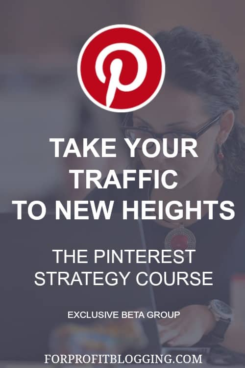 This Pinterest course looks amazing! Pinterest is the best social media for blogging for traffic, by far.
