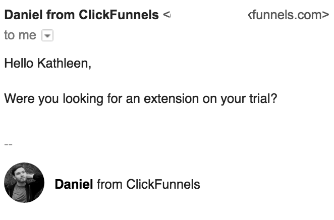 daniel from clickfunnels reply