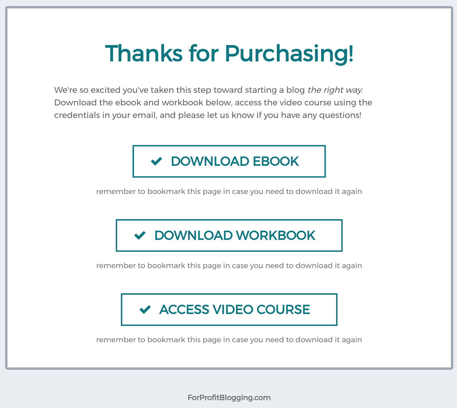 ebook workbook video course
