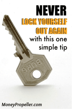 never lock yourself out