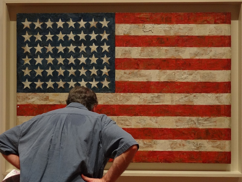 Jasper Johns - Flag - Stacking Benjamins