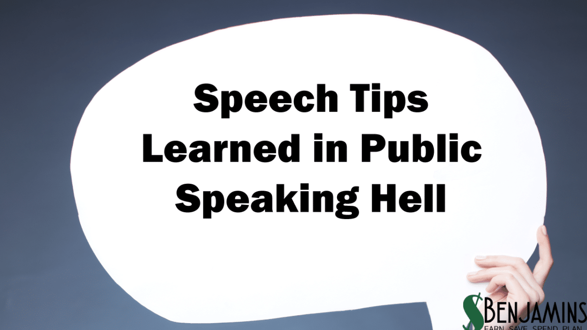 Speech Tips Learned in Public Speaking Hell