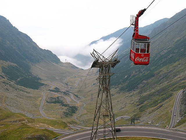 The Transfagarasan Highway in Romania. Check out all the switchbacks! This is known as one of the world's great roads.