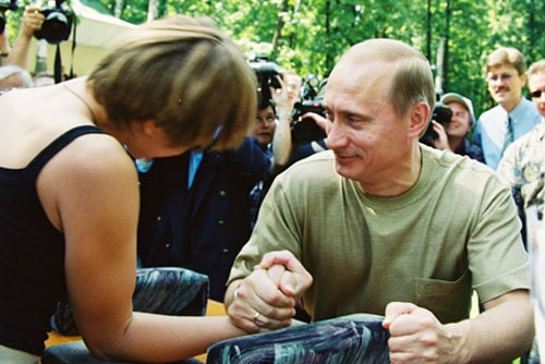 It's fun to strong arm the other side, isn't it? Check out Vlad helping out another citizen.