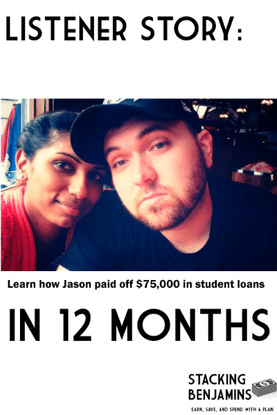 Learn how Jason paid of $75,000 in student loans in 12 months!