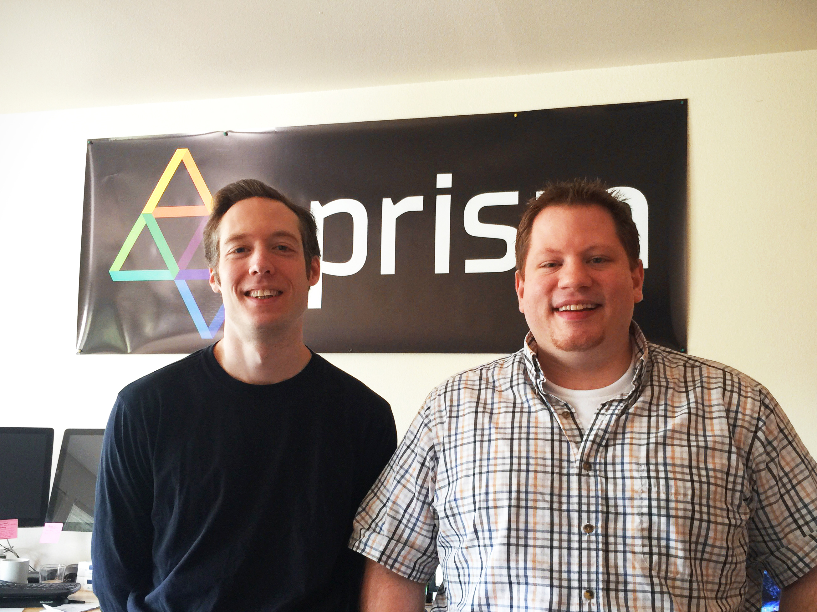 Tyler and Steve, co-founders of the Prism bill paying app