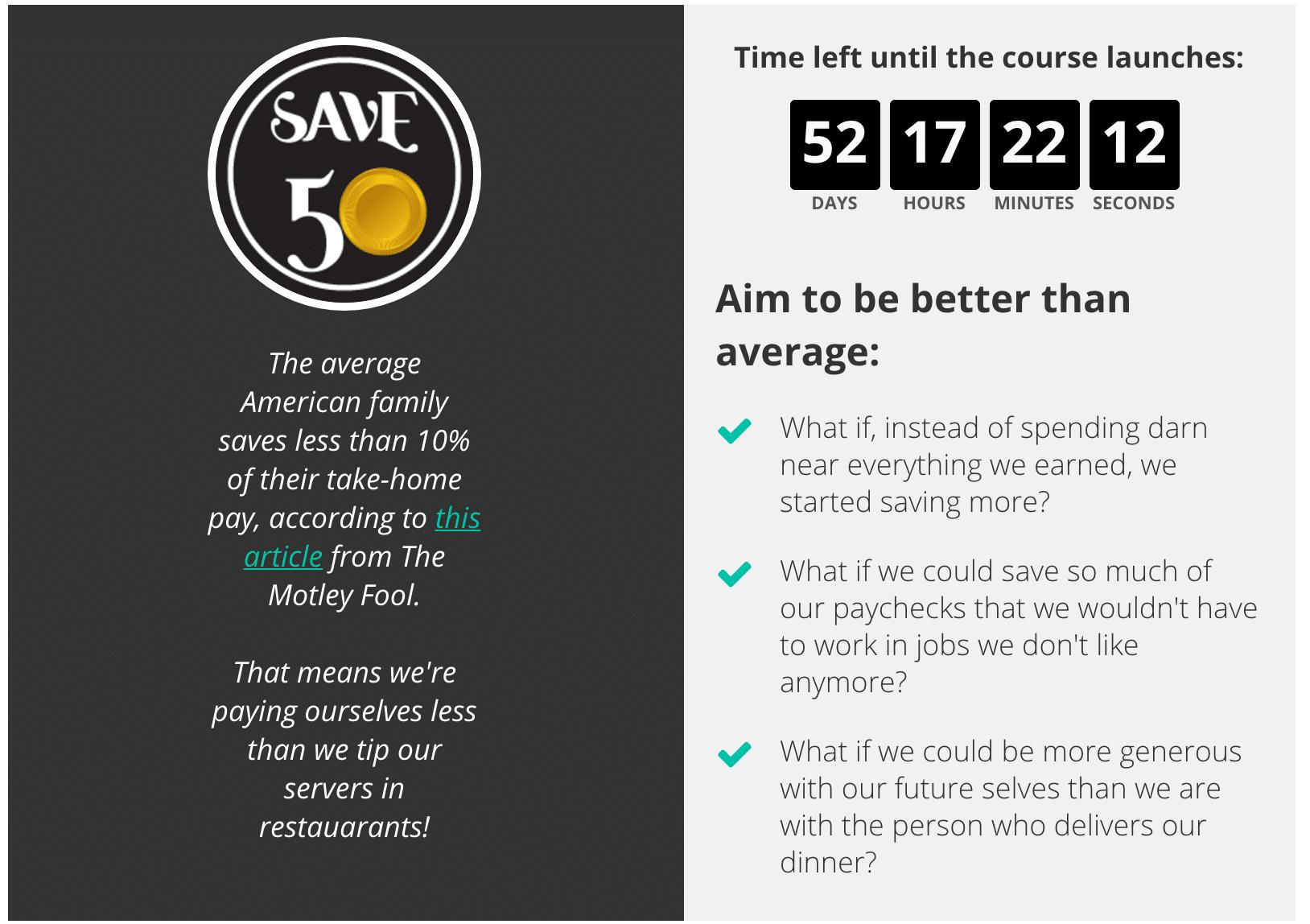 Save Half Your Income