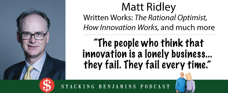 picture of matt ridley, innovation quote